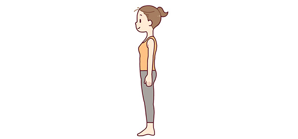 正しい姿勢で身体のゆがみを整える